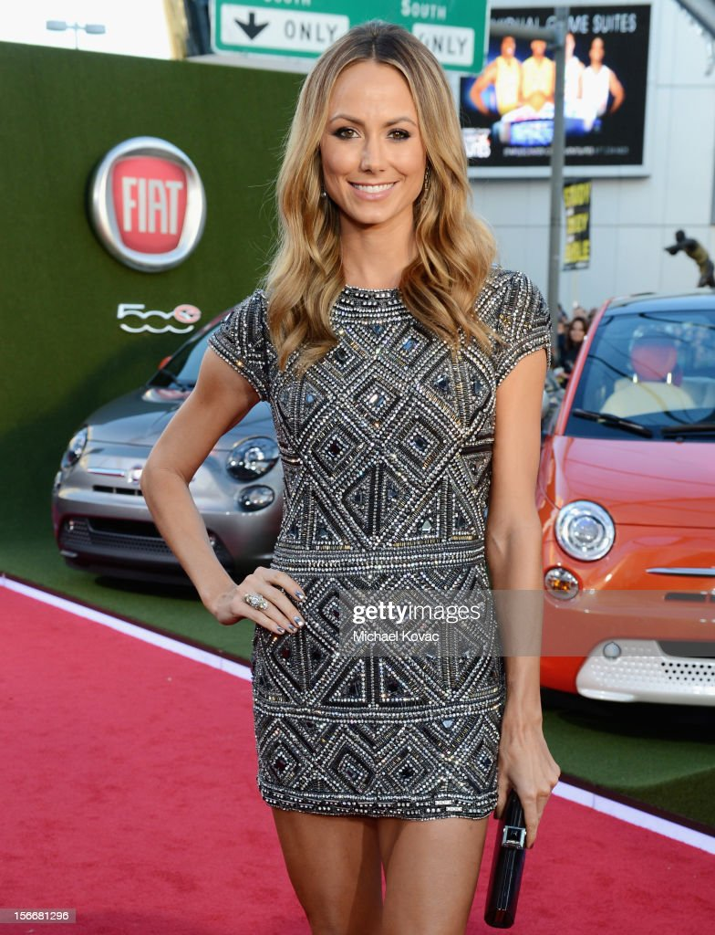 Stacy Keibler attends Fiat's Into The Green during the 40th American Music Awards held at Nokia Theatre L.A. Live on November 18, 2012 in Los Angeles, California.
