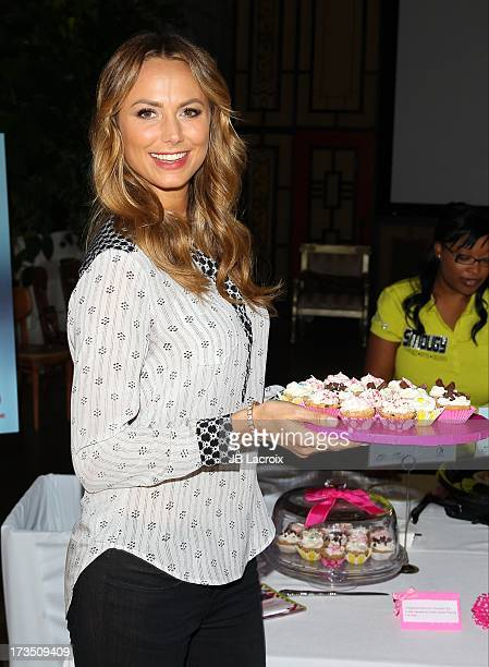 Stacy Keibler attends the Lifetime Original Series 'Supermarket Superstar' food tasting event at The Smog Shoppe on July 15 2013 in Los Angeles...