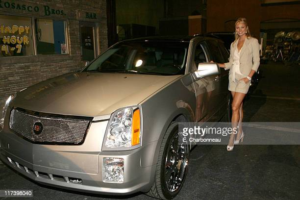 Stacy Keibler during General Motors Presents 3rd Annual GM AllCar Showdown Hosted by Shaquille O'Neal Backstage and Audience at Paramount Studios in...