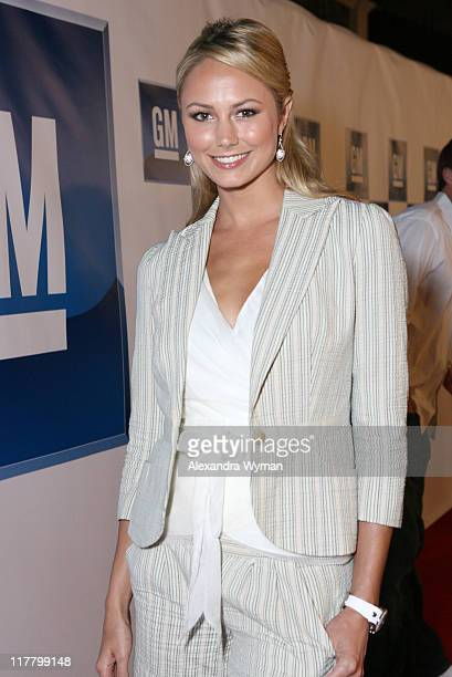 Stacy Keibler during General Motors Presents 3rd Annual GM AllCar Showdown Hosted by Shaquille O'Neal Red Carpet at Paramount Studios in Hollywood...