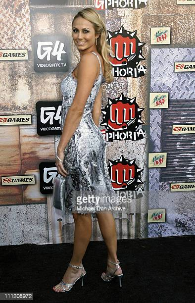 Stacy Keibler during GPhoria 2005 The Mother of All Videogame Award Shows Arrivals at Los Angeles Center Studios in Los Angeles California United...