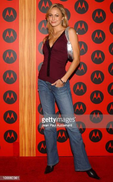 Stacy Keibler during Motorola's 6th Anniversary Party Benefiting Toys for Tots Arrivals at Music Box Theatre in Hollywood California United States