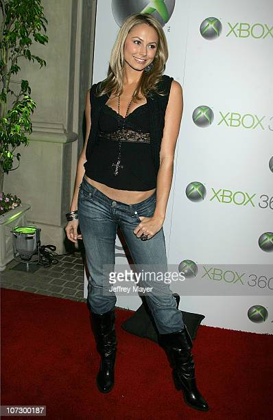 Stacy Keibler during Snoop Dogg Fergie and Wilmer Valderrama Host Exclusive Xbox 360 Launch Party Arrivals at Private Home in Beverly Hills in...