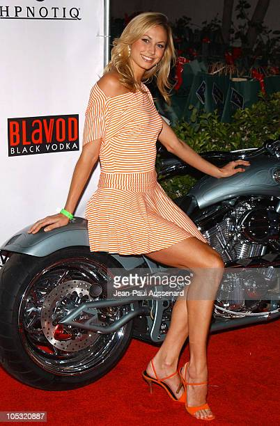 Stacy Keibler from the WWE during Von Dutch Designer Christian Audigier's Birthday Celebration at Private residence in Hollywood California United...