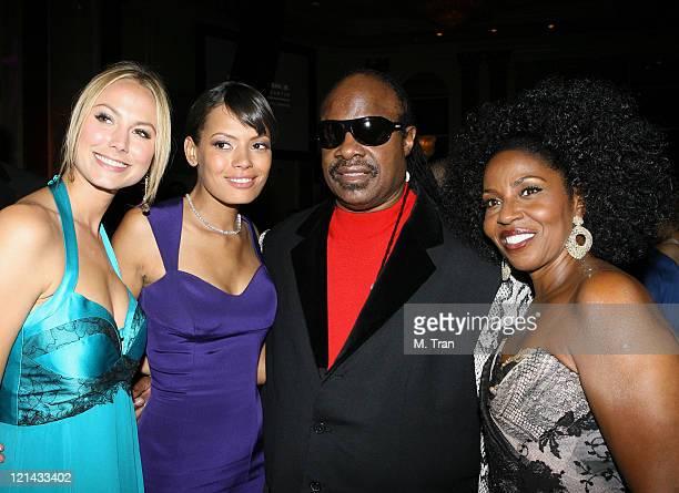 Stacy Keibler Keisha Whitaker Stevie Wonder and Pauletta Washington
