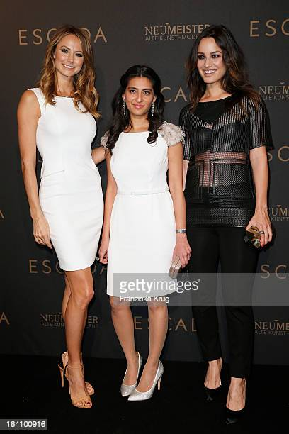 Stacy Keibler Megha Mittal and Berenice Marlohe attend the grand opening of the 'Escada' Flagshipstore on March 19 2013 in Berlin Germany