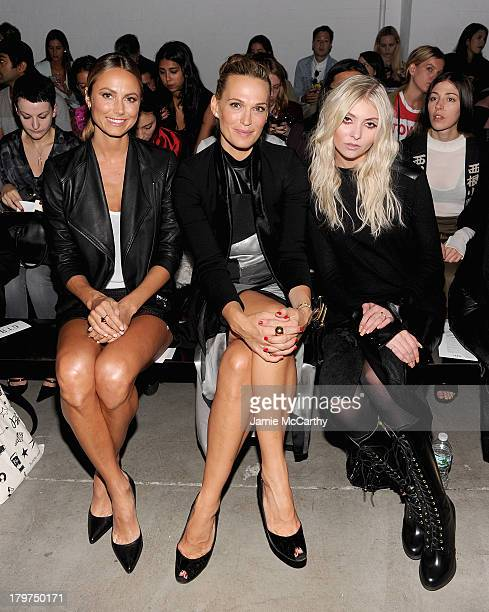 Stacy Keibler Molly Sims and Taylor Momsen attend the Helmut Lang show during Spring 2014 MercedesBenz Fashion Week at 545 West 22nd Street on...