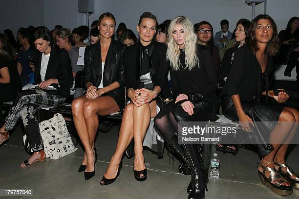 Stacy Keibler Molly Sims and Taylor Momsen attend the Helmut Lang show during Spring 2014 MercedesBenz Fashion Week on September 6 2013 in New York...