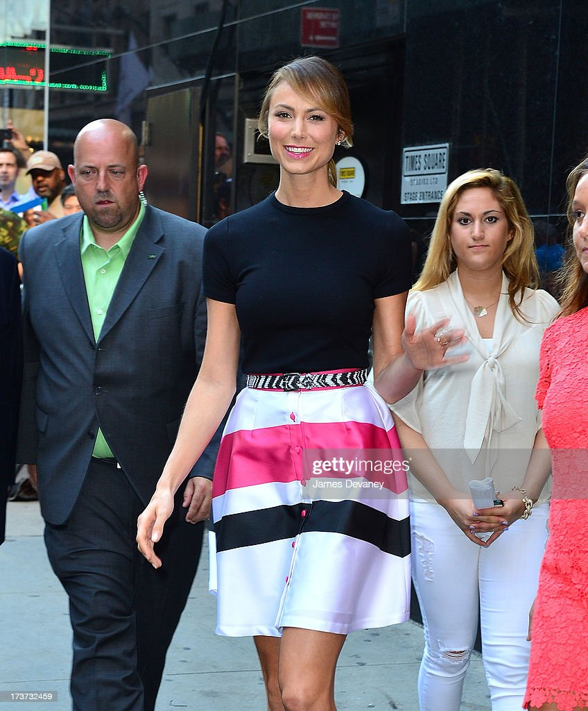 Stacy Keibler visits ABC's 'Good Morning America' on July 17, 2013 in New York, United States.