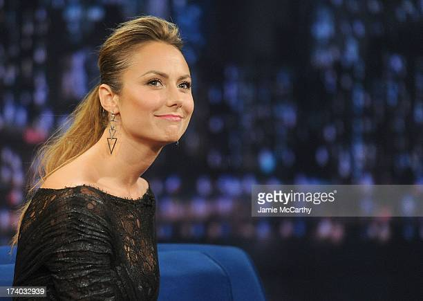 Stacy Keibler visits Late Night With Jimmy Fallon at Rockefeller Center on July 19 2013 in New York City