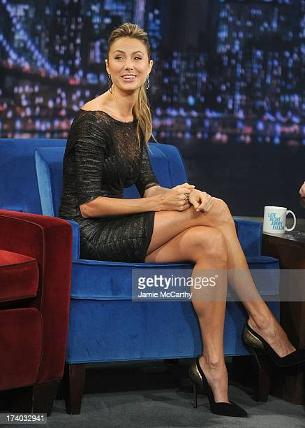 Stacy Keibler visits 'Late Night With Jimmy Fallon' at Rockefeller Center on July 19 2013 in New York City