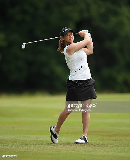 Stacy Lee Bregman of South Africa in action during the first round of the ISPS Handa Ladies European Masters at The Buckinghamshire Golf Club on July...