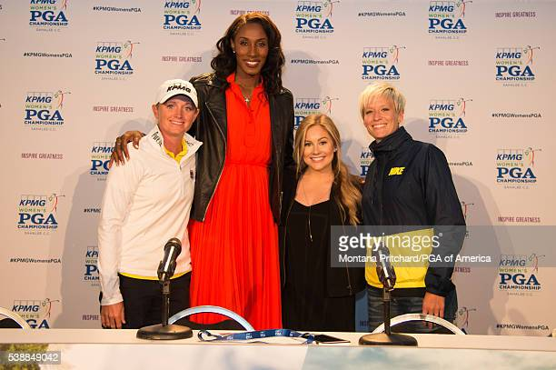Stacy Lewis fourtime Olympic gold medalist in basketball Lisa Leslie fourtime Olympic medalist in gymnastics Shawn Johnson and Olympic gold medalist...