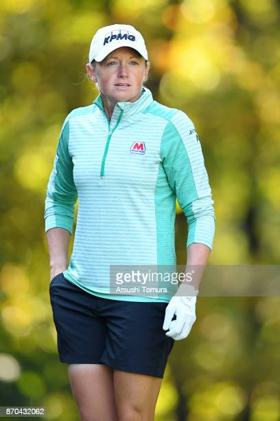 Stacy Lewis of the USA looks on during the final round of the TOTO Japan Classics 2017 at the Taiheiyo Club Minori Course on November 5 2017 in...
