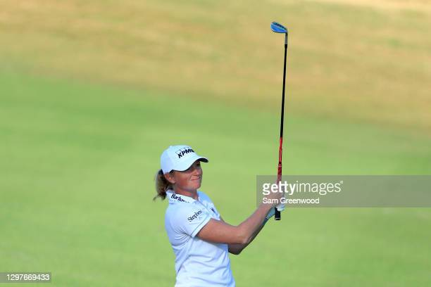 Stacy Lewis plays a shot on the fourth hole during the first round of the Diamond Resorts Tournament Of Champions at Tranquilo Golf Course at the...