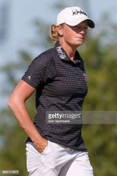 Stacy Lewis walks off the 3rd green during the LPGA Volunteers of America Texas Classic on May 5 2018 at the Old American Golf Club in The Colony TX