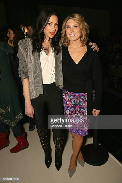 Stacy London and Nicole Wallace attend the Nicole Miller fashion show during MercedesBenz Fashion Week Fall 2015 at The Salon at Lincoln Center on...
