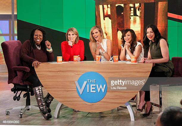 THE VIEW Stacy London and Samantha Ponder guest cohost Thursday February 26 2015 Guests include Walt Disney Television via Getty Images News' Diane...