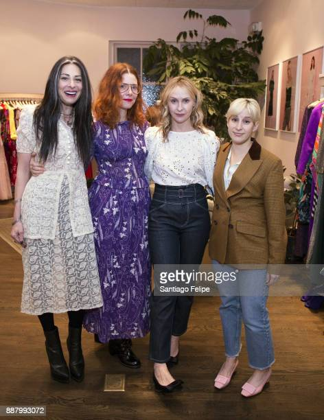 Stacy London Christene Barberich Rebecca Taylor and Rachel Antonoff attend Rebecca Taylor hosts a vintage popup in support of the She Should Run...