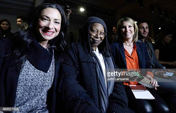 Stacy London Whoopi Goldberg and Nicole Wallace attend Marissa Webb show during MADE Fashion Week Fall 2015 at Milk Studios on February 12 2015 in...