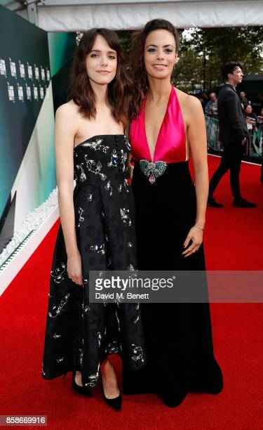 Stacy Martin and Berenice Bejo attend the Create Gala UK Premiere of 'Redoubtable' during the 61st BFI London Film Festival at the Embankment Gardens...