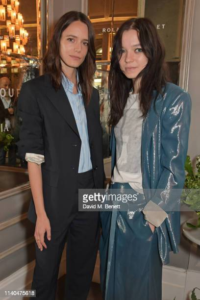 Stacy Martin and Esme CreedMiles attend a luncheon hosted by Roland Mouret in celebration of Women Filmmakers at the Corinthia Hotel London on May 1...