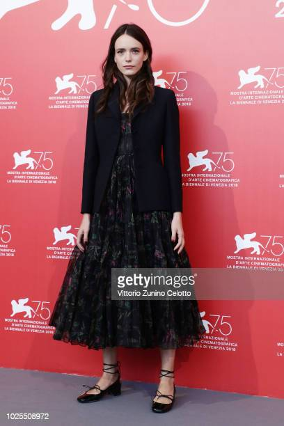 Stacy Martin attends the 'Amanda' photocall during the 75th Venice Film Festival at Sala Casino on August 31 2018 in Venice Italy