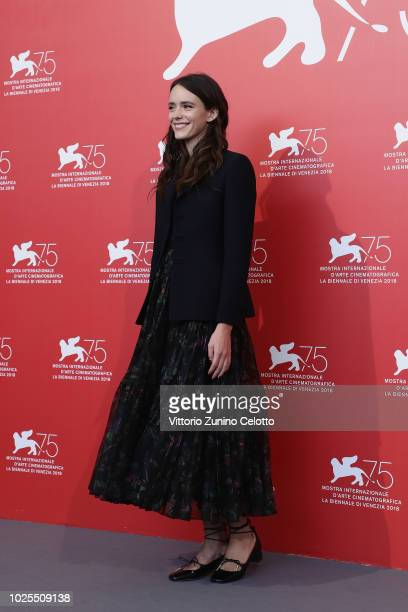 Stacy Martin attends the Amanda photocall during the 75th Venice Film Festival at Sala Casino on August 31 2018 in Venice Italy