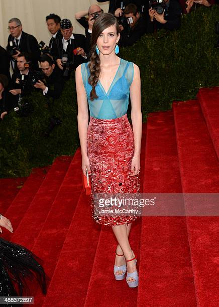 Stacy Martin attends the 'Charles James Beyond Fashion' Costume Institute Gala at the Metropolitan Museum of Art on May 5 2014 in New York City