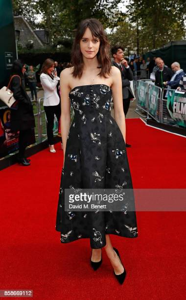 Stacy Martin attends the Create Gala UK Premiere of 'Redoubtable' during the 61st BFI London Film Festival at the Embankment Gardens Cinema on...