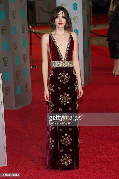 Stacy Martin attends the EE British Academy Film Awards at The Royal Opera House on February 14 2016 in London England