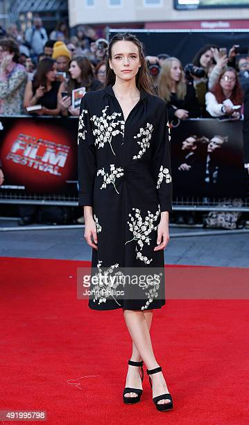 Stacy Martin attends the HighRise Screening during the BFI London Film Festival at Odeon Leicester Square on October 9 2015 in London England
