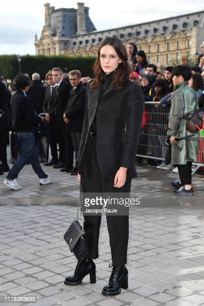 Stacy Martin attends the Louis Vuitton Womenswear Spring/Summer 2020 show as part of Paris Fashion Week on October 01 2019 in Paris France