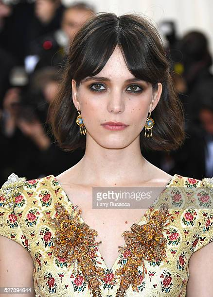 Stacy Martin attends the 'Manus x Machina Fashion In An Age Of Technology' Costume Institute Gala at Metropolitan Museum of Art on May 2 2016 in New...