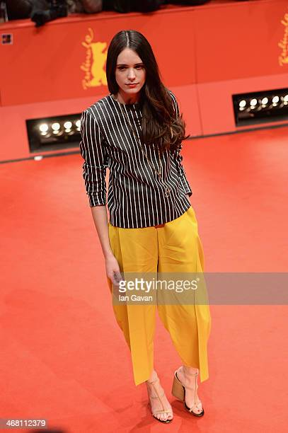 Stacy Martin attends the 'Nymphomaniac Volume I ' premiere during 64th Berlinale International Film Festival at Berlinale Palast on February 9 2014...
