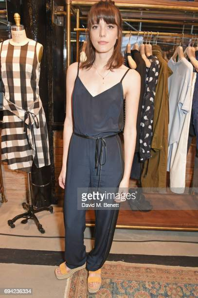 Stacy Martin attends the Rag Bone London flagship store opening on June 9 2017 in London England