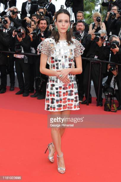 Stacy Martin attends the screening of Oh Mercy during the 72nd annual Cannes Film Festival on May 22 2019 in Cannes France