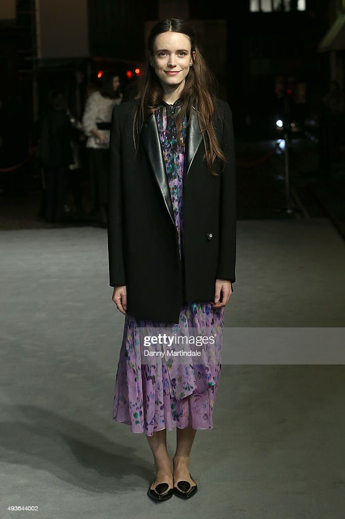 Stacy Martin attends the VIP Premiere of 'A Bigger Splash' hosted by AnOther magazine and Dior at The Curzon Mayfair on October 21, 2015 in London, England.