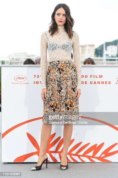 """Stacy Martin attends thephotocall for """"Jury De La Cinefondation Et Des Courts Metrages"""" during the 72nd annual Cannes Film Festival on May 24, 2019..."""