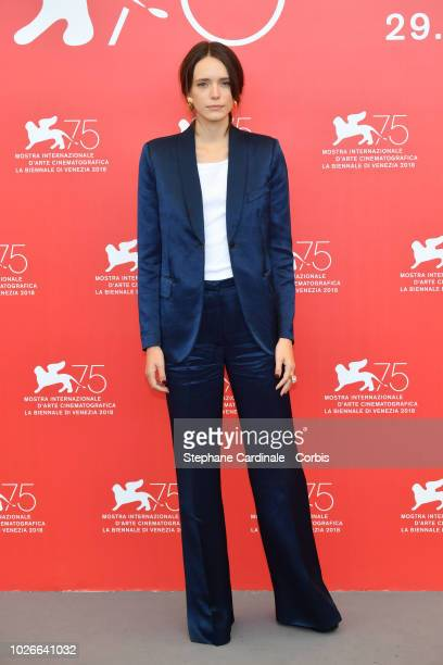 Stacy Martin attends 'Vox Lux' photocall during the 75th Venice Film Festival at Sala Casino on September 4 2018 in Venice Italy