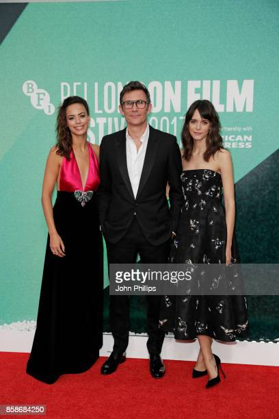 Stacy Martin Michel Hazanavicius and Berenice Bejo attend the Create Gala UK Premiere of 'Redoubtable' during the 61st BFI London Film Festival on...