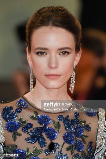 """Stacy Martin walks the red carpet ahead of the """"Gloria Mundi"""" screening during the 76th Venice Film Festival at Sala Grande on September 05, 2019 in..."""