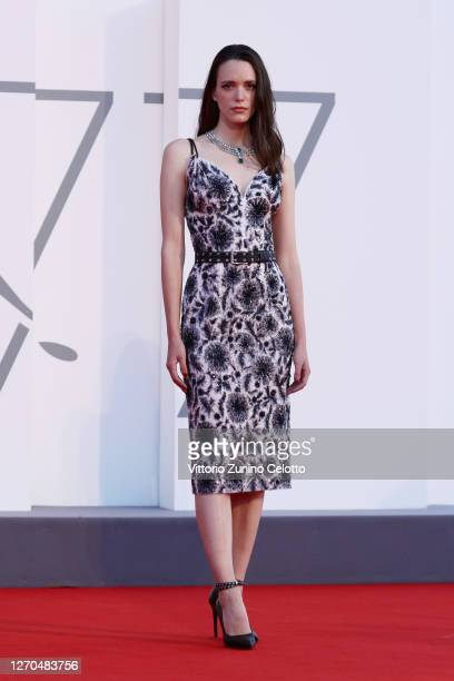Stacy Martin walks the red carpet ahead of the movie Amants at the 77th Venice Film Festival at on September 03 2020 in Venice Italy