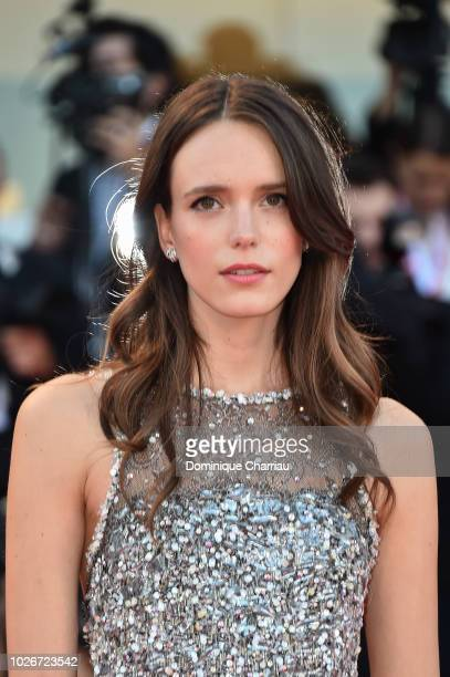 Stacy Martin walks the red carpet ahead of the 'Vox Lux' screening during the 75th Venice Film Festival at Sala Grande on September 4 2018 in Venice...