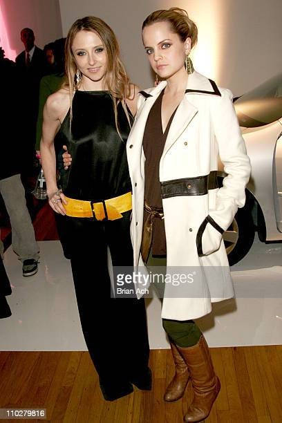 Stacy of Alice and Olivia and Mena Suvari during Olympus Fashion Week Fall 2006 Alice and Olivia Backstage And Party in New York New York United...