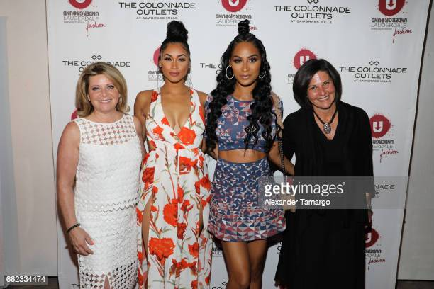 Stacy Ritter Darnell Nicole Ashley Nicole Roberts and Noelle Stevenson attend The Nicole Miller 2017 Spring Collection At The Underground Lauderdale...