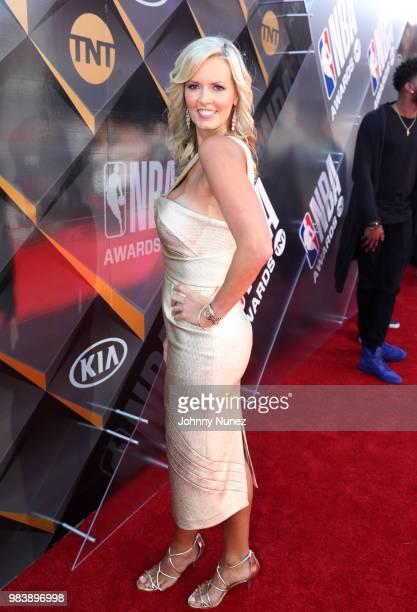 Stacy Sager attends 2018 NBA Awards at Barkar Hangar on June 25 2018 in Santa Monica California