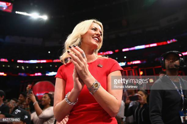Stacy Sager attends the 2017 JBL ThreePoint Contest at Smoothie King Center on February 18 2017 in New Orleans Louisiana NOTE TO USER User expressly...