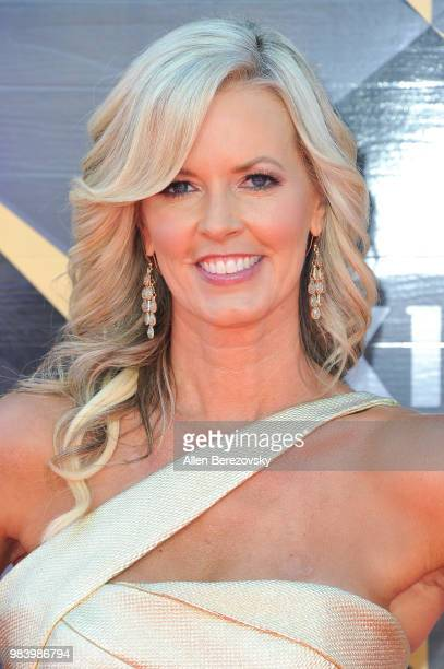 Stacy Sager attends the 2018 NBA Awards Show at Barker Hangar on June 25 2018 in Santa Monica California