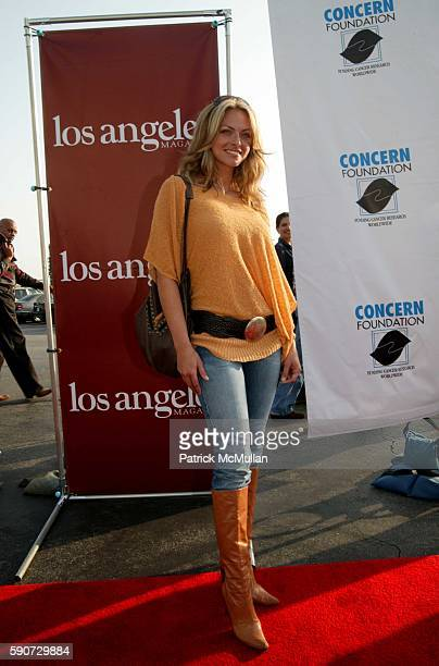 Stacy Sanches attends CONCERN Foundation's 31st Annual Block Party at A Western back lot at Paramount on July 16 2005